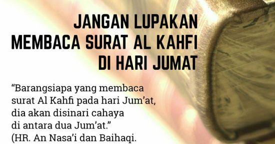Keutamaan membaca surat Al Kahfi pada hari Jum'at