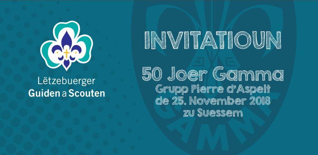 50 Joer Gamma-Scouten – 25 November 2018