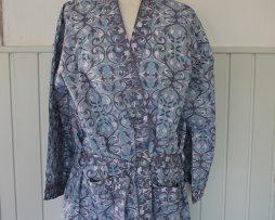 Kimono | Mönstrad blå