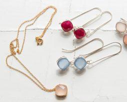 Gem Drop Halsband | Guld
