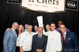 All smiles with Mayor Edwin Lee at the '5th Anniversary Friday Night Opening Celebration' in the Grand Tasting Tent