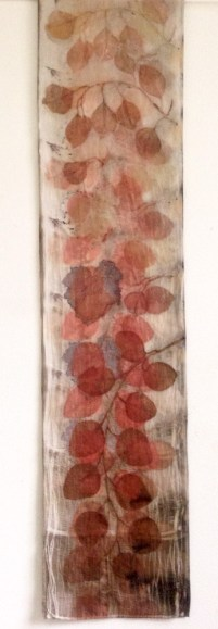 Long Eucalyptus Eco Print with Iron