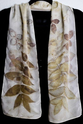 Butternut eco printed scarf, 35