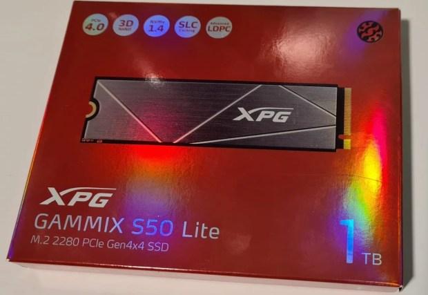 AData XPG GAMMIX S50 Lite 1TB Verkaufsverpackung - Das bei uns eingereichte Muster