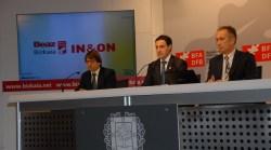Gorka Estévez, Imanol Pradales y Juan Diego
