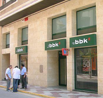 English: Bilbao Bizkaia Kutxa office in Santa ...