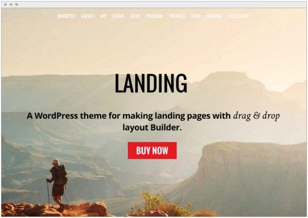 mejor plantilla para wordpress página de aterrizaje