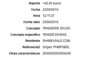 pago de shareasale