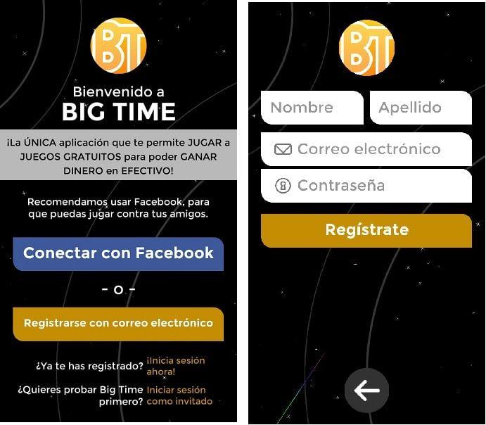 Registro Big Time