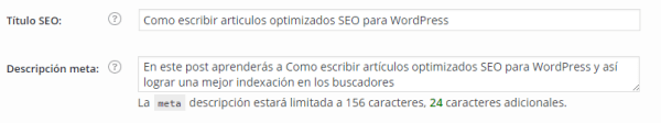 articulos optimizados SEO