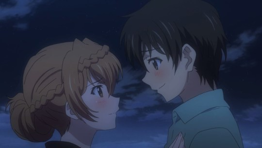 golden time episode 17 kaga kouko tada banri kiss