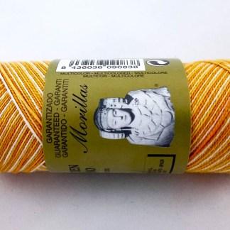 Zepelín color amarillo 28 multicolor de algodón perlé 100% egipcio