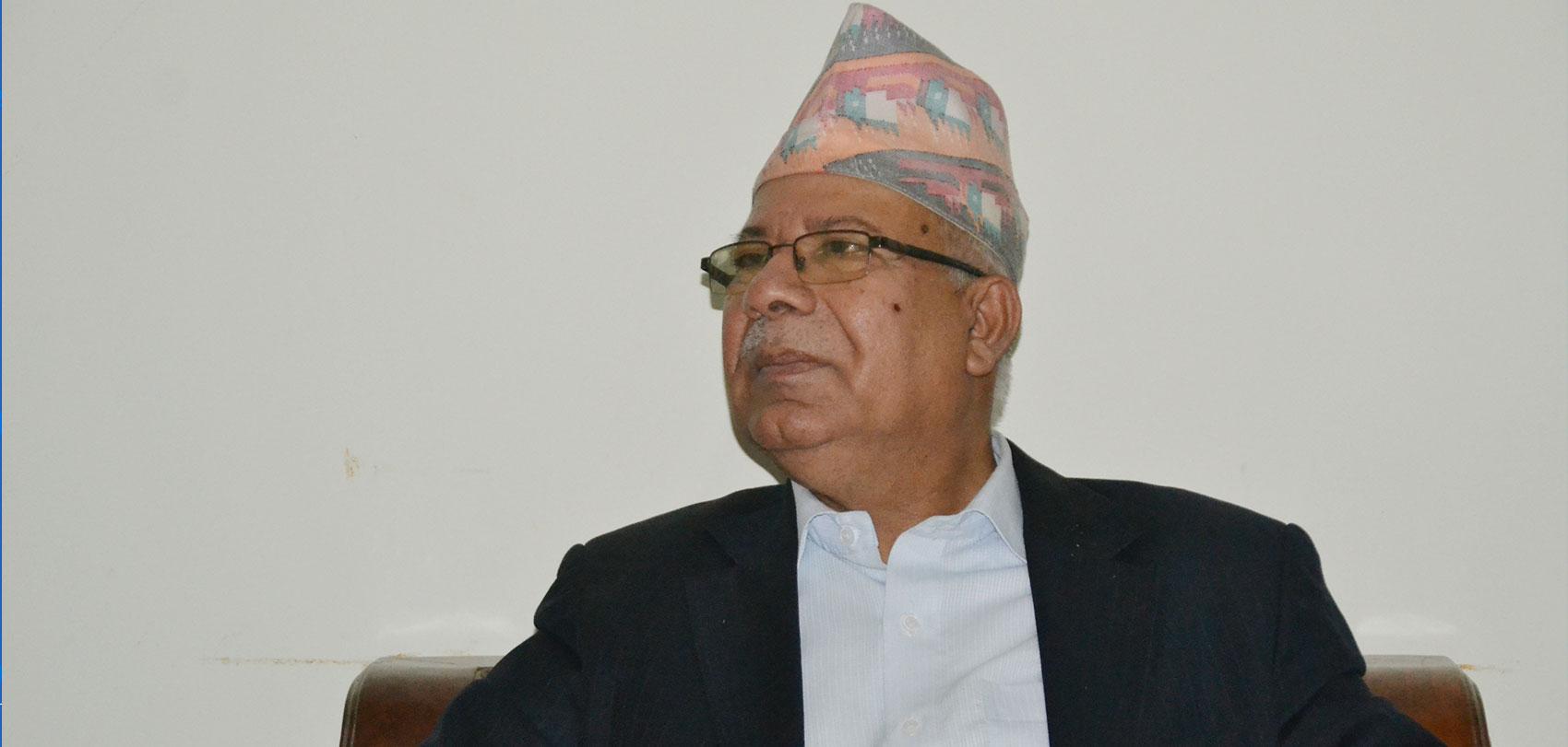 पार्टीमा कोही महामहिम छैन : माधव नेपाल