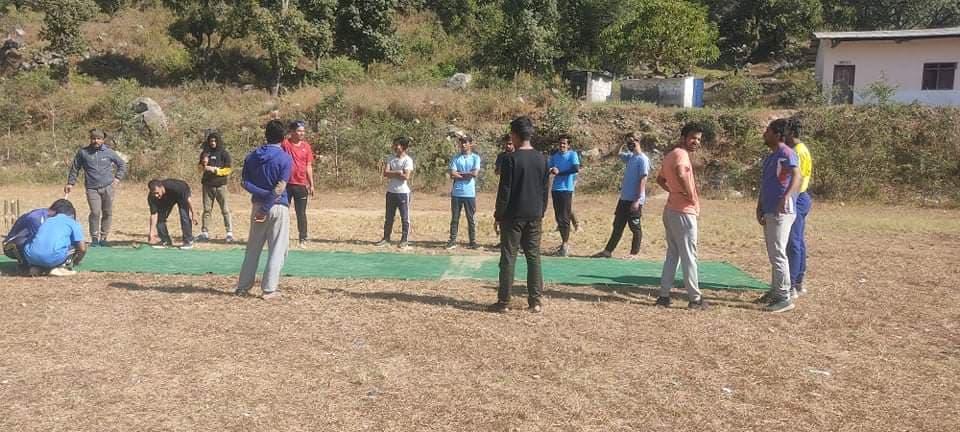पाँच वर्षपछि डिमुवा नवजागृतको मैदानमा खेलियो क्रिकेट