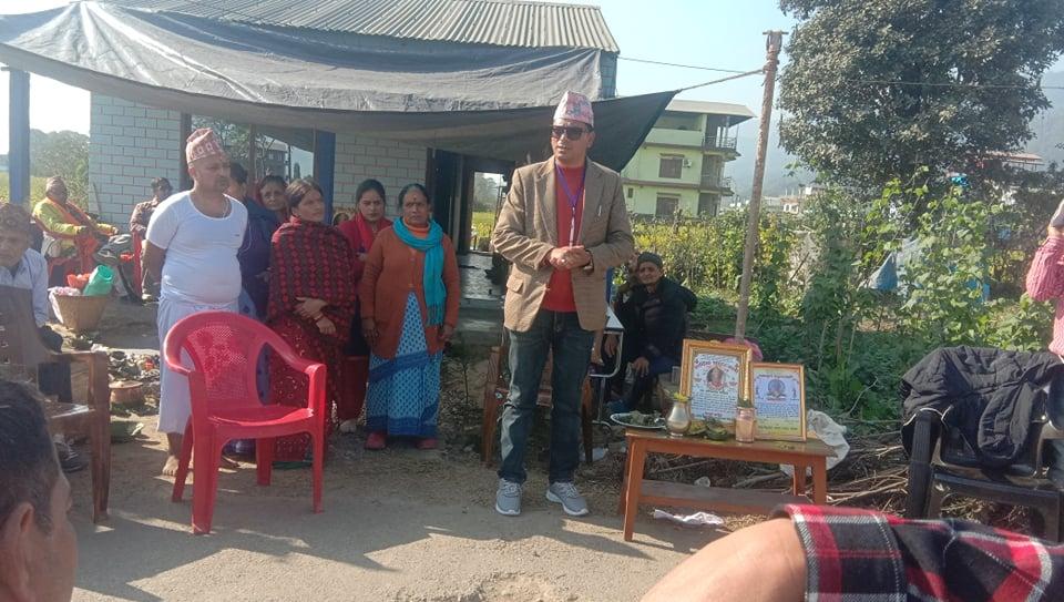 नेपाली काँग्रेस महाशिलाको गैडाकोटमा पुगेर श्रद्धाञ्जली सभा