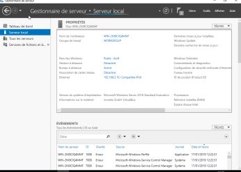 Configuration de base Windows Server 2016