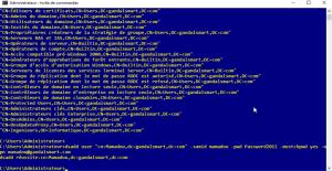 Création de l'utilisateur avec DOS