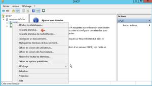 Nouvelle étendue DHCP
