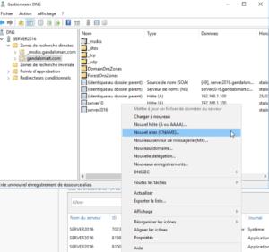 Création de lalias CNAME 300x282 - Comment configurer le DNS – Zones et enregistrements - sous Windows Server 2016