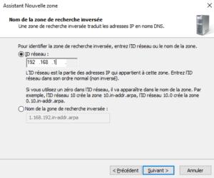 Mettre l'ID du réseau windows server