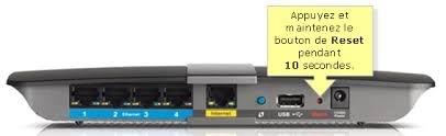 Bouton de reinitialisation - Comment configurer un routeur Linksys en 6 étapes ?