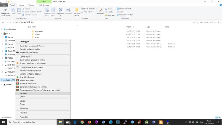Formatez votre clé usb en ntfs pour le boot windows