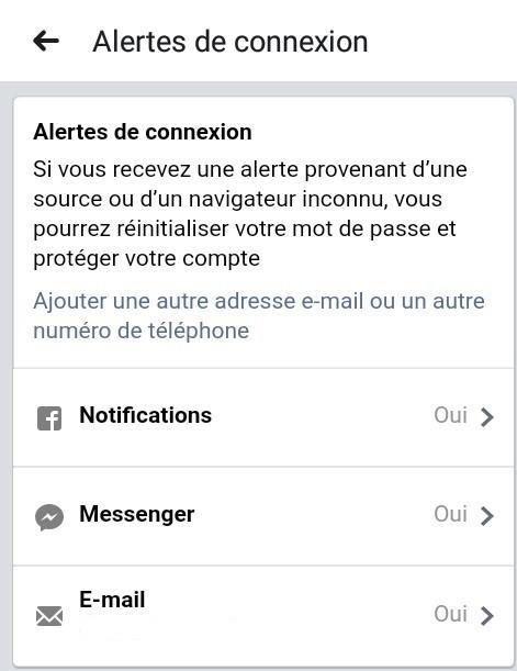 Alertes de connexion 1 - 6 astuces pour sécuriser votre compte Facebook