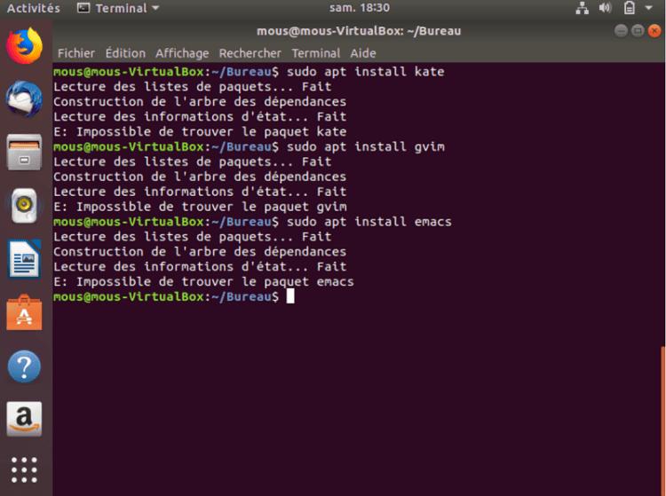 Installation des paquets graphiques - Linux : quatre éditeurs de texte sous Ubuntu à connaitre