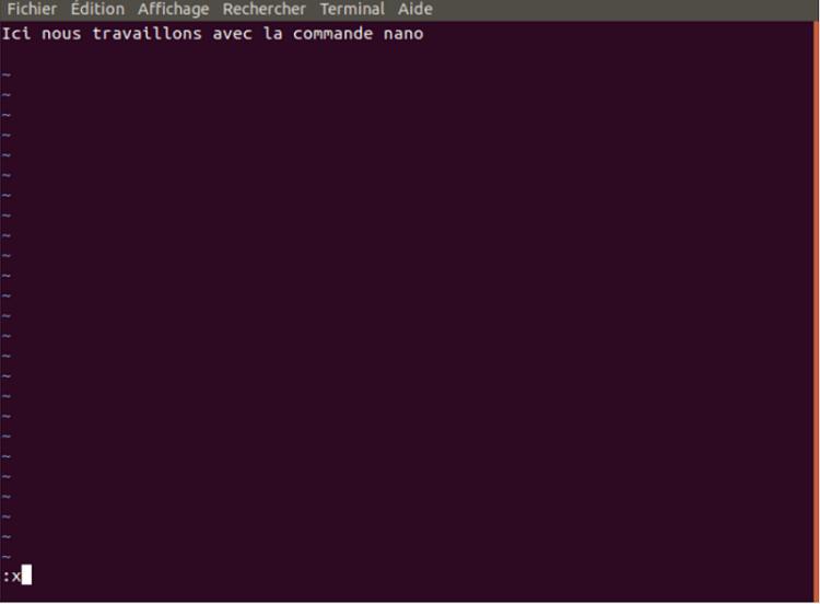 la commande nano - Linux : quatre éditeurs de texte sous Ubuntu à connaitre
