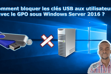 Empecher clé usb sans server2016