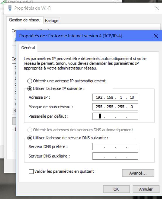 IP 1 - Comment connecter deux machines avec un câble Ethernet pour partager des fichiers - RJ45 ?