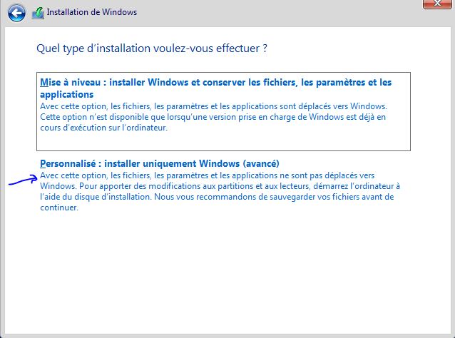 personnaliser installation windows server 2019