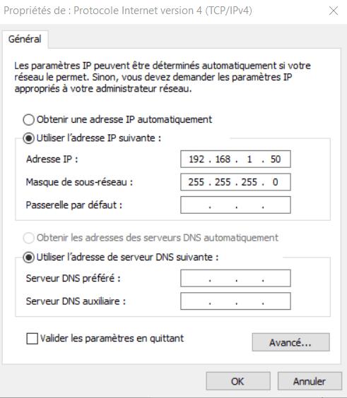 Adresse IP DNS