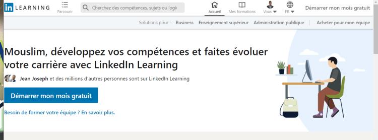 Linkedin Learning pour la formation réseau Gandalsmart