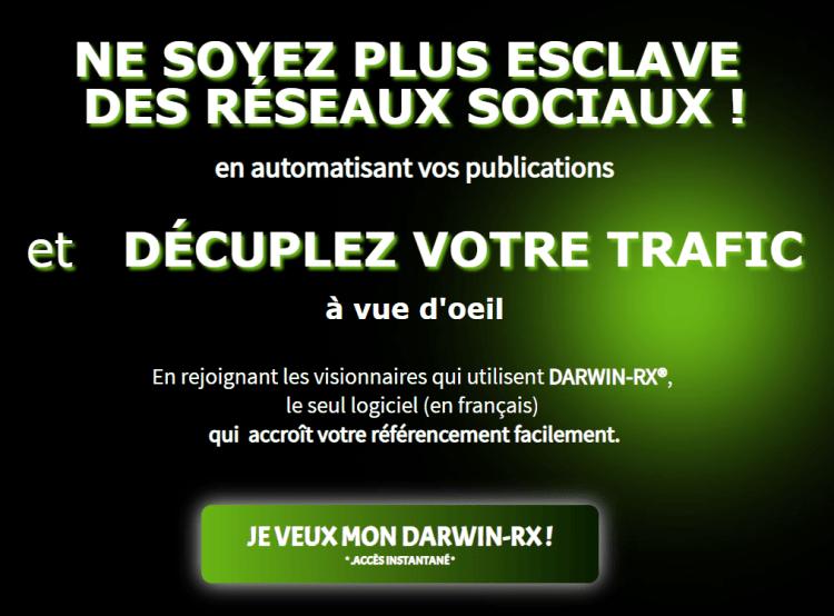 EcomBusiness - DARWIN-RX est un logiciel qui permet d'augmenter le trafic client vers un site web, une boutique en ligne , tout ça GRATUITEMENT!