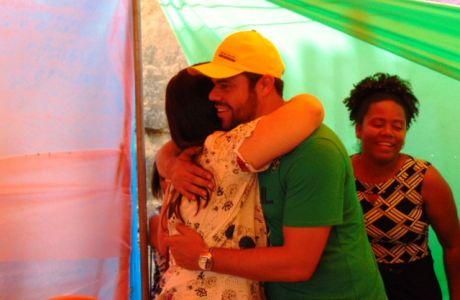 DSC08778 Gandu: Prefeito Léo foi recebido com alegria durante as comemorações ao Dia da Criança