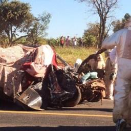 TRAGÉDIA: Pai, mãe e criança de 1 ano e 11 meses morreram em colisão entre veículo e caminhão de abelhas