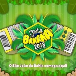 Festa da Banana 2018 em Teolândia. De 7 a 12 de Junho