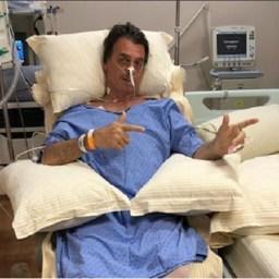 Senador divulga foto da cicatriz de Bolsonaro: 'Força, capitão'