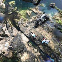 Casal morre após moto cair de ponte na Ponta da Gruta, Nazaré das Farinhas