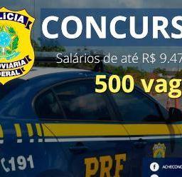 Inscrições abertas para concurso Polícia Rodoviária Federal, com 500 vagas e salários de R$ 9.473,57