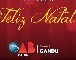 OAB: Mensagem de Natal da OAB – Subseção Gandu