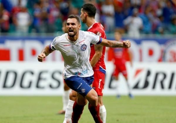 Bahia-goleia-Nacional-por-3-a-0-na-Copa-Sul-Americana Bahia goleia Nacional por 3 a 0 na Copa Sul-Americana