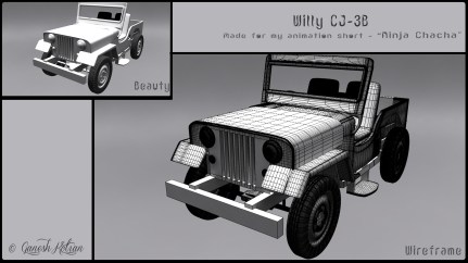 Front - Willy CJ-3B - Made for Ninja Chacha Animation Short