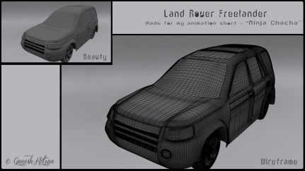 Front - The Land Rover Freelander - Made for Ninja Chacha Animation Short