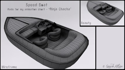 Speed Boat – Made for Ninja Chacha Animation Short