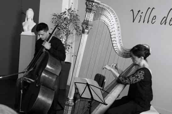 Duo harpe et contrebasse