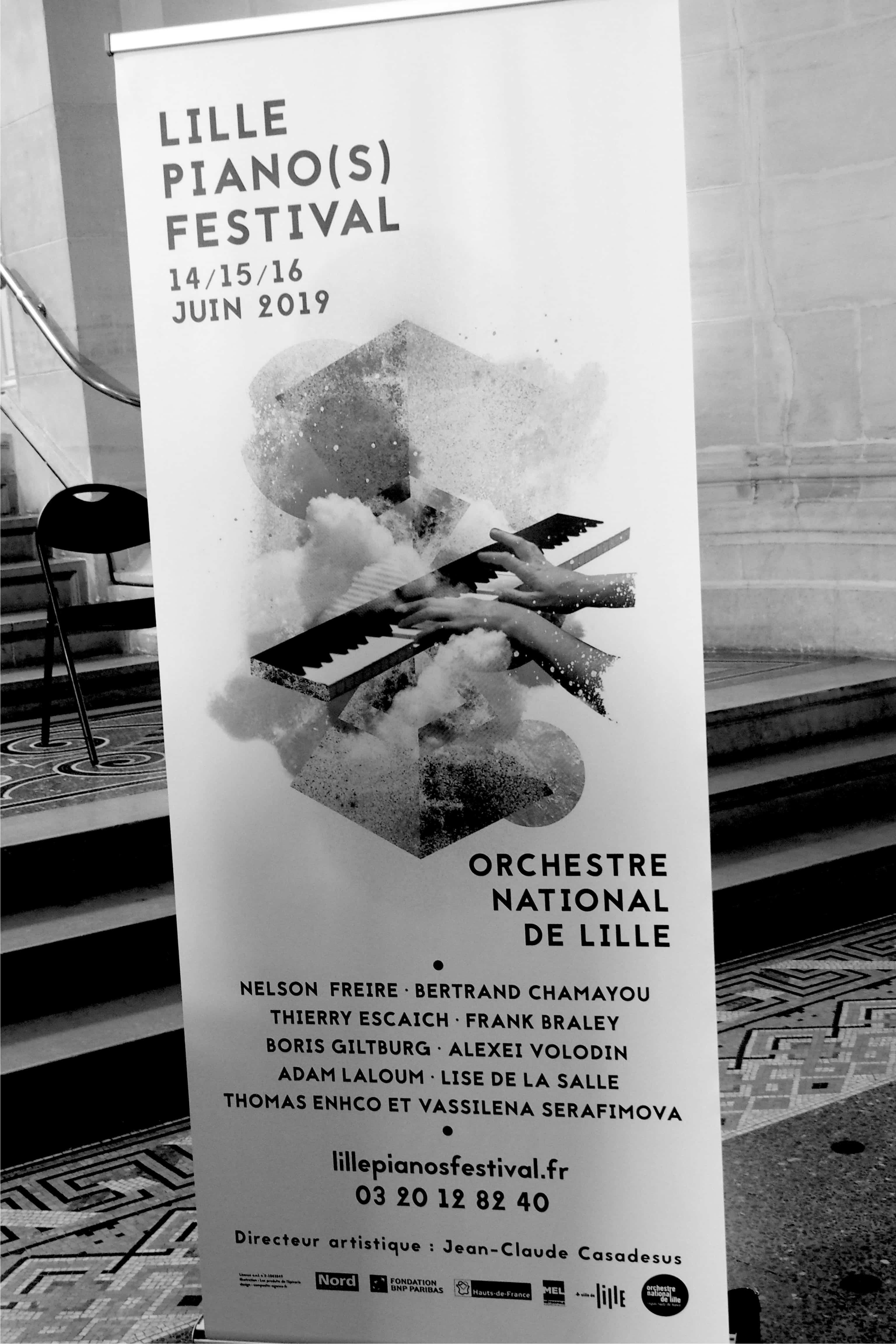 Affiche du Lille Piano Festival 2019