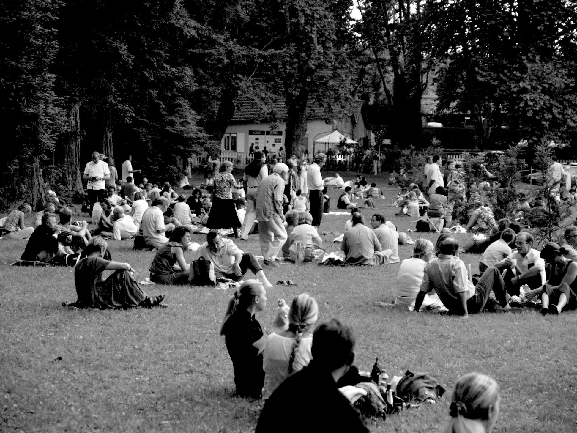 Festival La Roque d'Anthéron. Pique nique.