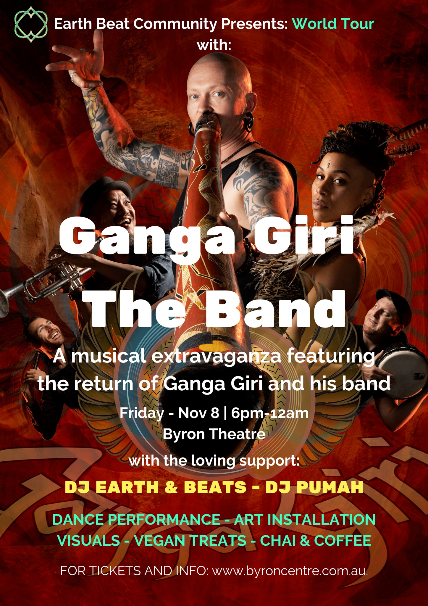World Tour with GANGA GIRI BAND presented by Earth Beat Community